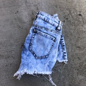 Pants - High waisted shorts size small- fits a 0-2 best